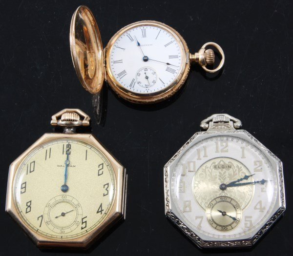 Lot of 3 Gold Pocket Watches