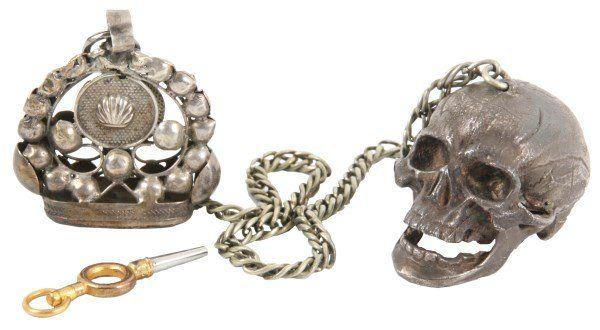 Verge Fusee Pocket Watch in Skull Case