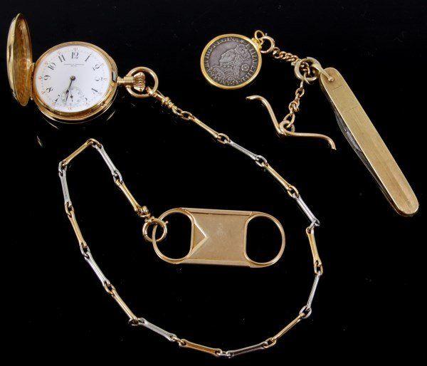 18K Vacheron Constantin Pocket Watch & Chain