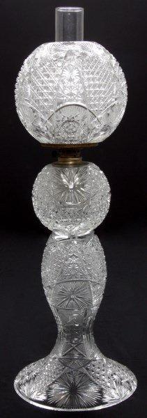 Cut Glass Banquet Lamp