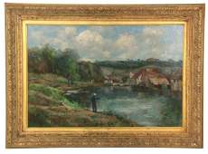 Signed Clifton O/C Landscape Painting