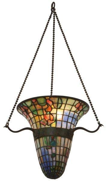 Tiffany Studios Inverted Hanging Hall Lamp