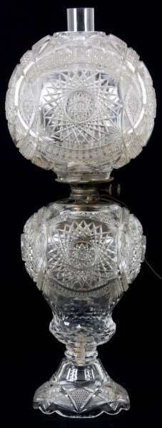 Cut Glass Gone With The Wind Lamp