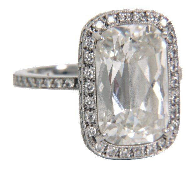 William Goldberg 5 Ct. Ashoka Diamond Ring