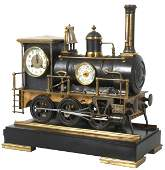 Bronze Animated Locomotive Industrial Clock