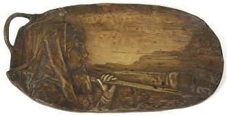 P Tereszczuk Relief Bronze Tray