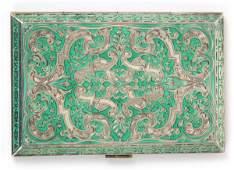 Austrian Sterling Silver & Enamel Card Case