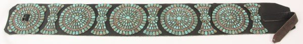 Lg. Silver & Turquoise Concho Belt