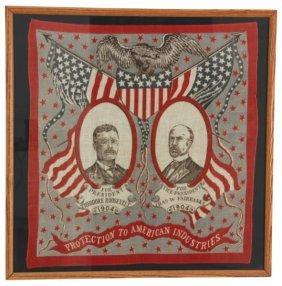 Roosevelt & Fairbanks 1904 Campaign Bandana