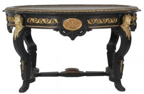 Attr: Pottier & Stymus Inlaid Parlor Table