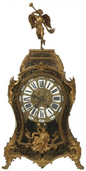French Brass & Boulle Inlaid Bracket Clock