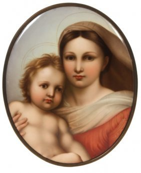 Lg. Kpm Hand Painted Porcelain Plaque