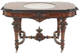 Renaissance Revival Marble Top Parlor Table