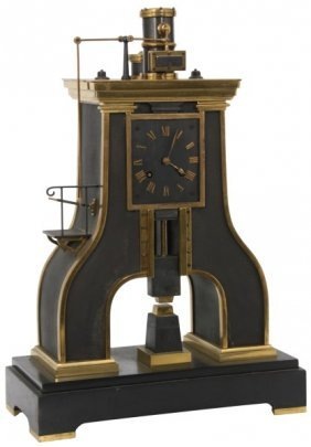 French Industrial Steam Hammer Clock