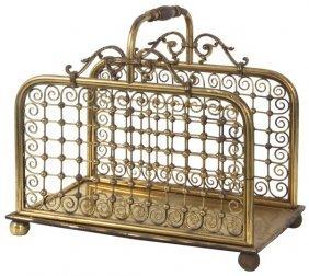 Brass Stick & Ball Style Log Carrier