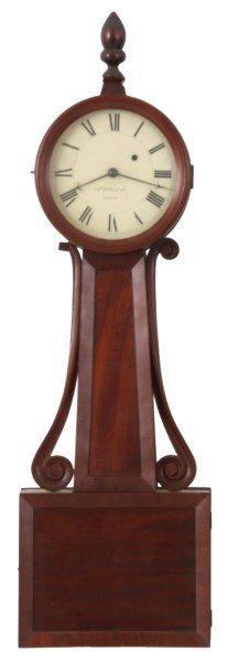 Attr: H. Tifft Mahogany Banjo Clock