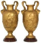 Pr. F. Barbedienne Bronze Vases