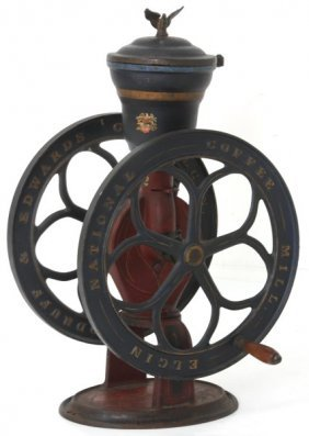 Cast Iron Elgin National Coffee Mill No. 42