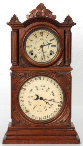 Ingraham Double Dial Calendar Clock