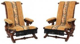 Pr. Hunzinger Walnut Reclining Chairs