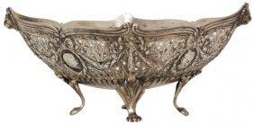 Attr: Hanau Pierced Decorated Silver Bowl