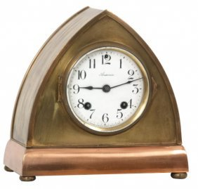 Brass Ansonia Beehive Mantle Clock