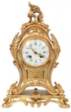 Tiffany & Co. French Bronze Mantle Clock