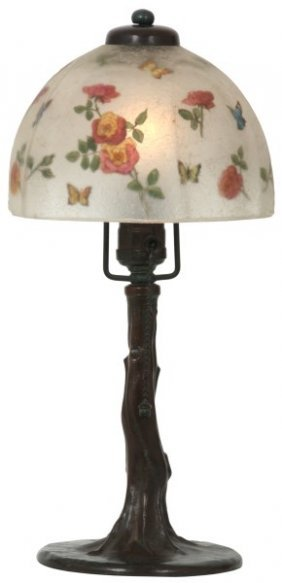 7 In. Handel Reverse Painted Boudoir Lamp