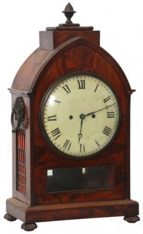 Mahogany Double Fusee Bracket Clock