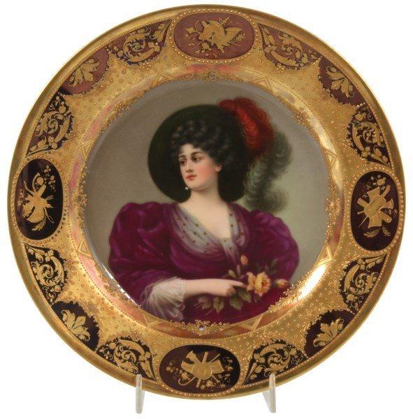 9.5 in. Royal Vienna Portrait Plate