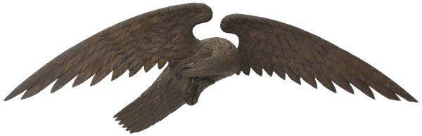 Large 19th C. Carved Wooden Eagle