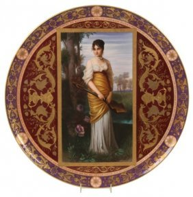 19.5 In. Royal Vienna Porcelain Charger
