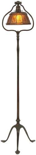 Tiffany Studios Linenfold Harp Floor Lamp