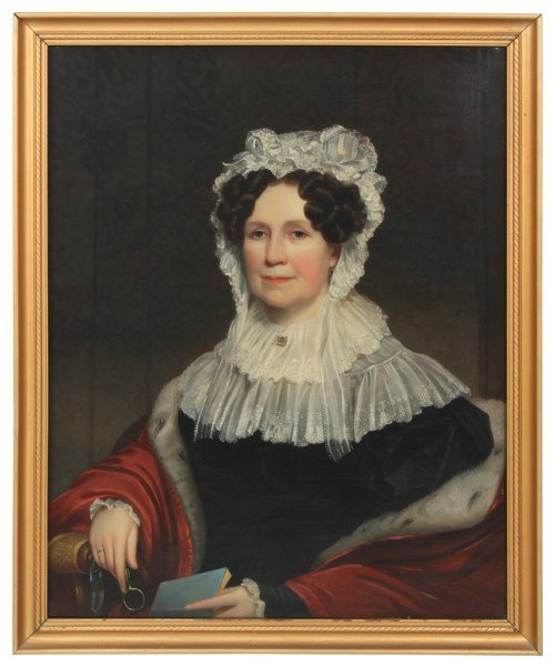 Attr: N. Jocelyn O/C Portrait – Mrs. Mary Pell