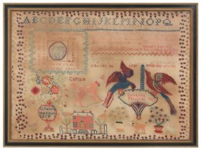 Large Needlepoint Sampler By Susanna Percival