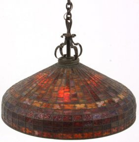 28 In. Bigelow & Kennard Geometric Hanging Dome