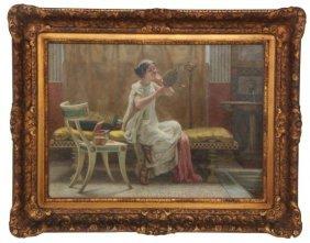 Guglielmo Zocchi O/c Painting - Vanity