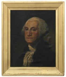 Attr: Thomas Sully O/c Portrait Of George Washing