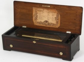 Inlaid Sublime Harmonie Cylinder Music Box