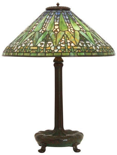 20 in. Tiffany Studios Arrowroot Table Lamp
