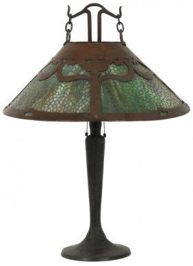 21 In. Handel Arts & Crafts Table Lamp