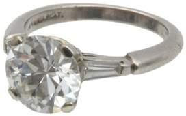 Platinum  3 Plus Carat Diamond Solitary Ring