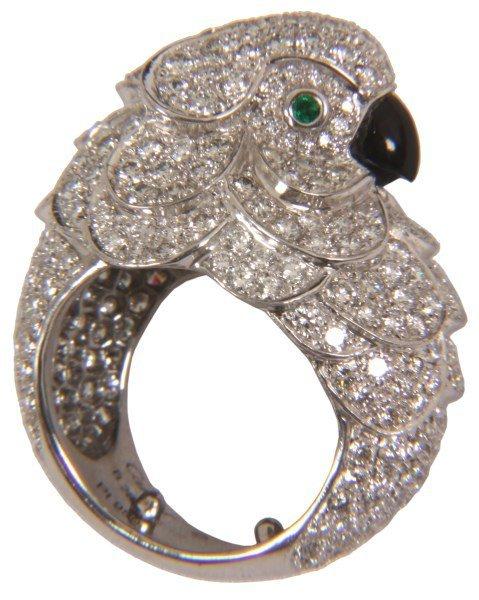 Cartier Platinum & Diamond Cockatoo Ring
