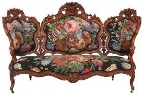 Elaborate Carved Rosewood Sofa