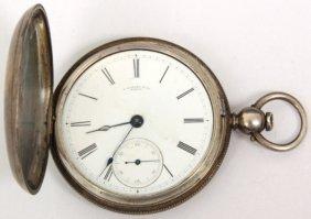 E. Howard Size 18 Silver Pocket Watch