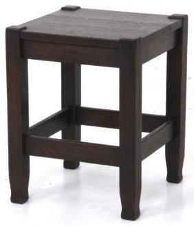Stickley Brothers Oak Tabouret No. 138