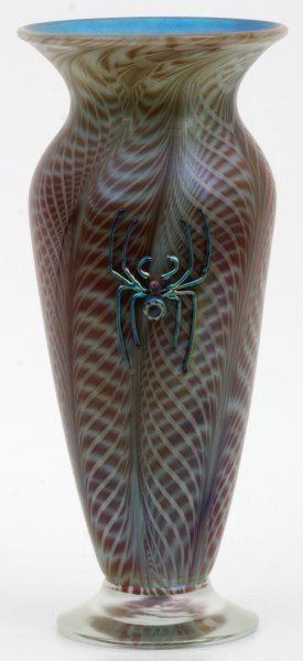 Vandermark Art Glass Shade With Spider