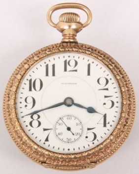 Waltham Size 18 Open Face 23 Jewel Pocket Watch