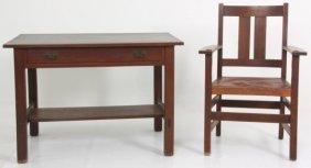 L & Jg Stickley Desk & Chair