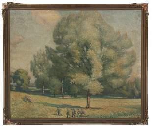Alfred Sisley O/B Impressionist Landscape